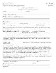 Permission Slip Form Template Gocreator Co