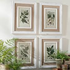 >queen anne s lace botanical prints framed wall art set of 4  queen anne s lace botanical prints framed wall art set of 4