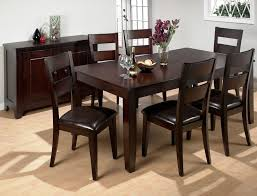 dark wood dining room set. Solid Oak Wood Black Dining Room Sets With Dark Brown Finish And Beautiful Vases On Top Chest Of Drawers Set K