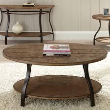 steve silver denise oval light oak wood coffee table hayneedle marble set imageby