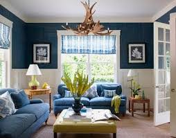 Modern Living Room With Blue Paint Color Scheme Living Room Paintings Decorations  Ideas As Per Vastu