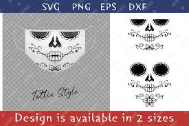 Free svg files to download and create your own diy projects using your cricut explore, silhouette cameo and more. Elegant Sugar Skull Flower For Face Mask Graphic By Natariis Studio Creative Fabrica