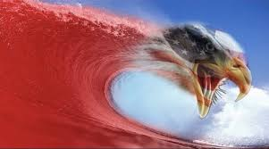 Image result for trump surfing on red wave