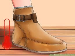 image titled stretch leather boots step 9