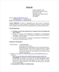 Sample Resume For Computer Engineering Students Best Of BSC Computer Science Fresher Resume Computer Science Resume