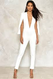 Designer Jumpsuit White White Jumpsuit With Long Cape Ficts