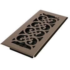 steel floor register in brushed nickel