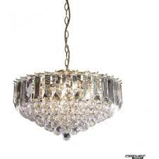fargo 6 light pendant brass clear acrylic endon lighting