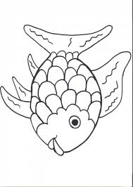 printable rainbow fish coloring page for preers
