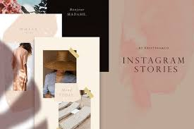 Instagram Stories Template Frame Story Social Media Mood Board