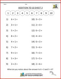 Printable Kindergarten Math WorksheetsAddition and subtraction worksheets to 10 image