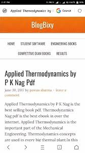 What is a link to download a PDF of Engineering Thermodynamics by ...
