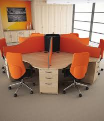 Circular Call Centre Desks  Genesys Office Furniture