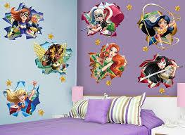 girl superhero wall decals
