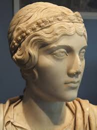 Ancient Roman Hair Style portrait bust of a roman woman with hair styled after the empress 5485 by wearticles.com