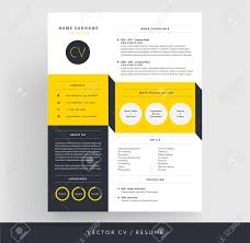 Creative Cv Template Yellow And Black 3d Paper Effect