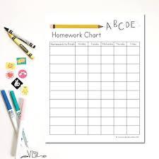 Weekly Homework Homework Chart Printable Instant Download Diy Hand Illustrated Childrens Weekly Homework And Responsibilities Kindergarten