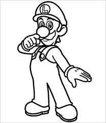Printable Mario Coloring Pages Super Bros Coloring Pages Free
