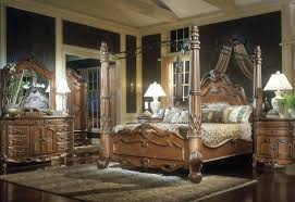 ashley traditional bedroom furniture. Interesting Furniture Ashley Furniture Canopy Bedroom Sets Bed  Traditional Design With Brown Wooden Colors Paint On E