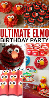 Elmo 1st Birthday Shirt Sesame Street Cake Pinata Party Ideas 2 Year