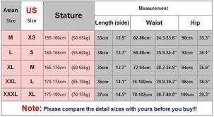 Asian Pants Size Chart To Us Aliexpress Size Chart Asian