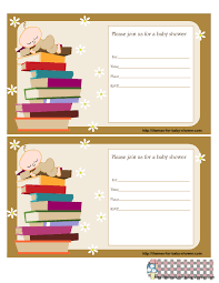 Book Themed Baby Shower  In A TickleLibrary Themed Baby Shower Invitations