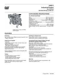 Caterpillar 333 Engine Spec Sheet. Caterpillar. Engine Problems ...