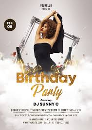 Club Flyers Address Birthday Party Free White Gold Psd Flyer Template Free