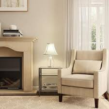 hampton bay mix and match ivory and white round bell table lamp shade neutral hover to zoom