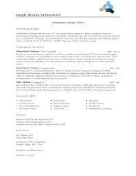 Administrative Professional Resume Profile Bongdaao Com