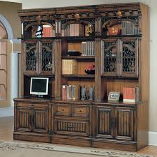 vintage bookcase with glass doors