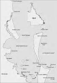 Map of Moreton Bay region showing main ...