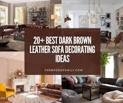 best dark brown leather sofa decorating