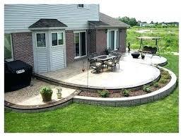 simple concrete patio design ideas cement designs home decor for living s91