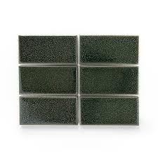 Heath Ceramics LG2 Jade Manganese-Olive #3 Tile Sample