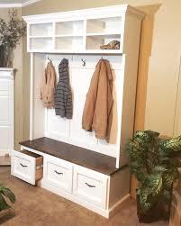 Coat Rack Storage Unit Entryway bench with shoe storage coat rack and storage compartments 80