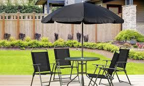 outsunny garden patio set textilene