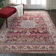 bohemian red beige area rug and rugs york