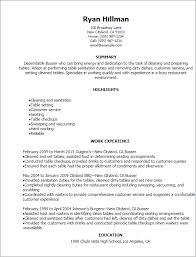 Resume Templates: Busser Resume