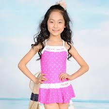 Pink JieJia Fahion and Cute Girls' One Piece Swim Suit/ Polka Dot Swimming  Dress