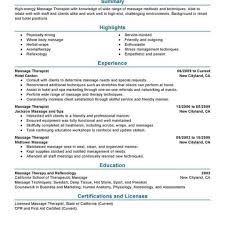 Massage Therapist Resume Sample Massage Therapist Resume Therpgmovie 23