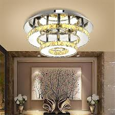 generic 36w modern round led crystal ceiling lights chandeliers bilayer aisle lights