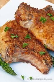 panko crusted pork chops art and the