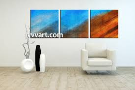 piece abstract blue oil paintings canvas wall art