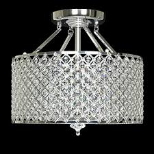 edvivi chrome round shade crystal semi flush mount chandelier 4 with regard to new household semi flush mount crystal chandelier ideas