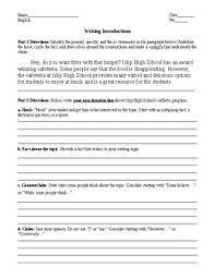 Argumentative Essay Funnel Format Introduction Guided Practice
