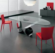 glass dining table base. Gorgeous Look Of Glass Dining Table Base Ideas : Captivating Design Using Oval Tables