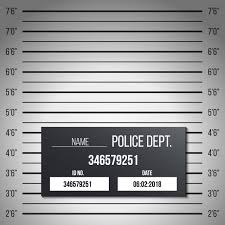 Police Lineup Mugshot Table Silhouette Anonymous Vector