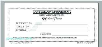 Custom Gift Certificate Templates Free Personalized Gift Certificate Template Voucher Templates