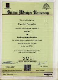 Sample Degree Certificates Of Universities Mba Certificate Pdf